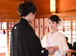 神社で婚礼