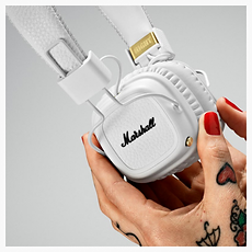 Marshall Major II Cream Bluetooth headphones - PLANET of SOUND