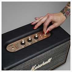 Marshall Stanmore Black Bluetooth speaker - PLANET of SOUND - Marshall Headphones