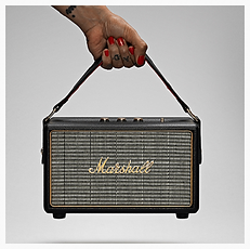 Marshall Kilburn Black Portable Bluetooth speaker - PLANET of SOUND