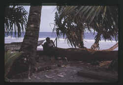 Canoe Building, Kili 12-04-1963 - Photo by Robert Kiste, Source -Robert C Kiste Collection, UHawaii,