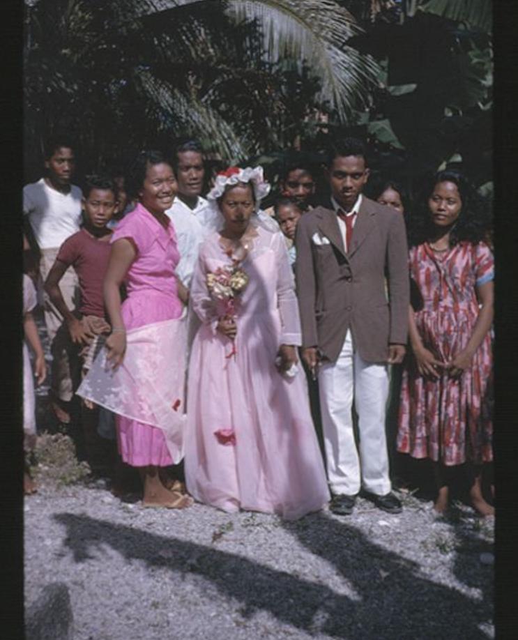 Takio and Iaeko wedding 8-23-1963 - Photo by Robert Kiste, Source -Robert C Kiste Collection, UHawai