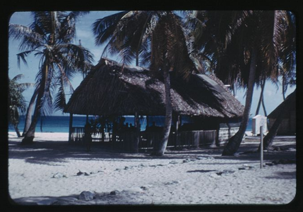 Rongerik, School House, 2-6-1948, Photo by Leonard Mason, Robert C. Kiste Collection, UHawaii, Manoa