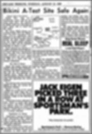 Chicago Tribune, August 13, 1968, Bikini A-Test Site Safe Again