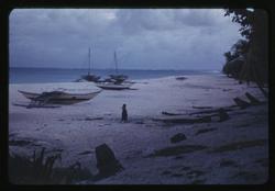 Rongerik, Canoes, 2-1-1948, Photo by Leonard Mason, Robert C. Kiste Collection, UHawaii, Manoa