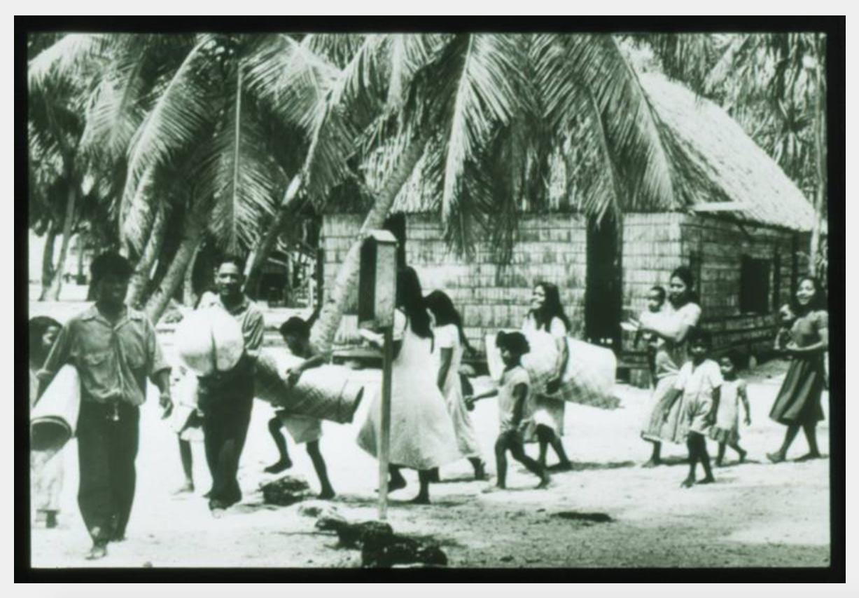 Bikini Evacuation, March 1946, Photo by Carl Mydans, Robert C. Kiste Collection, UHawaii, Manoa