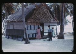 Rongerik, House, 02, 2-1-1948, Photo by Leonard Mason, Robert C. Kiste Collection, UHawaii, Manoa