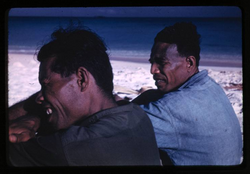 Rongerik, Jibaj and Juda, 2-4-1948, Photo by Leonard Mason, Robert C. Kiste Collection, UHawaii, Man