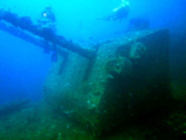 Diving in Bikini Atoll Lagoon