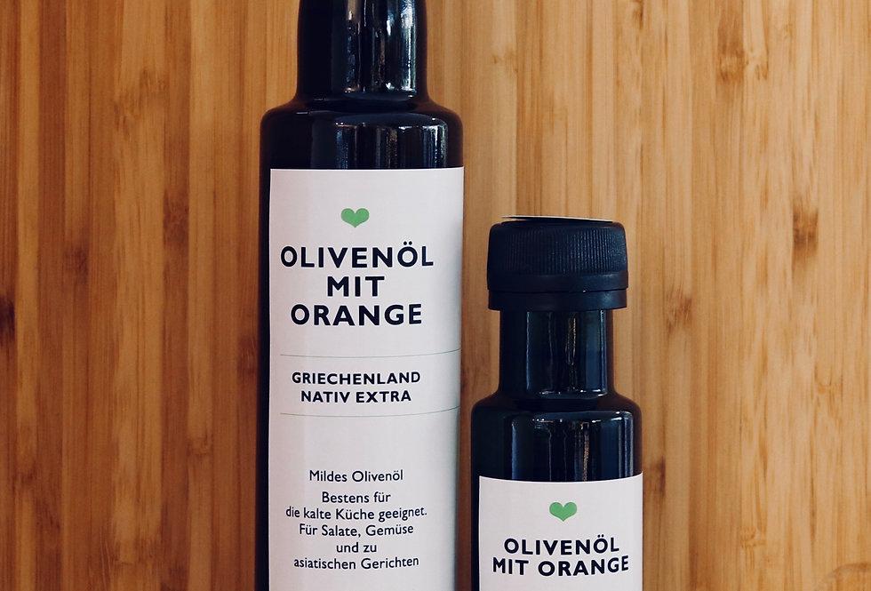 Olivenöl mit Orange, extravergine