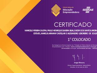 Sócios Startei recebem o Prêmio Sebrae de Educação Empreendedora