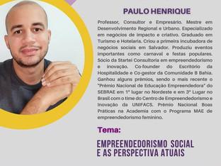 Sócio Startei convidado para falar sobre Empreendedorismo Social em webinar da rede SOU+