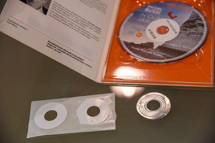 Etiquettes RFID Nedap sur CD
