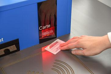 Scan de la carte membre sur automate