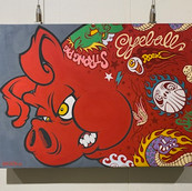 STRONG RED PIG