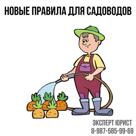 НОВЫЕ Правила для садоводов