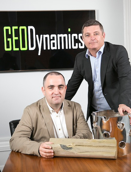 From left, Raymond Ross, technical CGI director at GEODynamics, and Chris Chalker, vice-president eastern hemisphere and managing director of GEODynamics (UK) Limited.