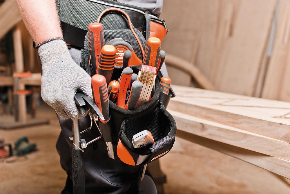 Bahco tool bags are designed for secure tethering