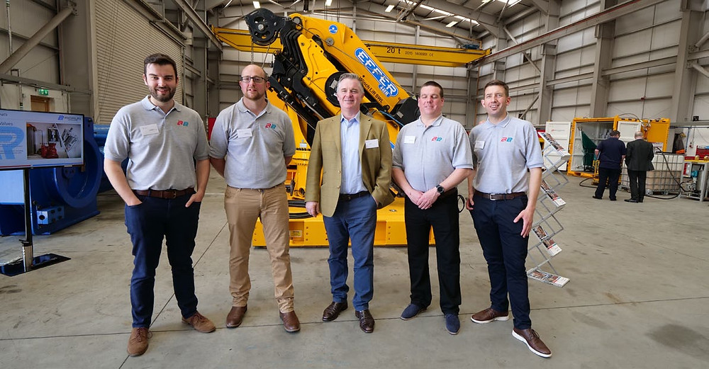 (Left to right) Tom Murdoch – Brimmond Group Engineering Director, Alan Glennie – Brimmond Group Technical Director, Colin Clark MP, Stewart Findlay – Brimmond Group Operations Director, Steven Simpson – Brimmond Group BD Manager
