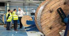 Hydro Group's cable manufacturing facilities were demonstrated during the Business Partner Forum.