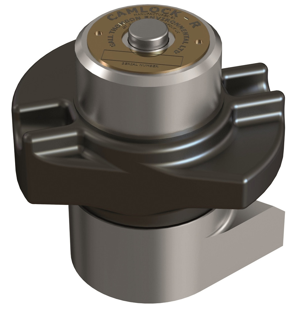 Gall Thomson, the world leader in marine couplings, has just introduced a new range of next generation locking cams for its Camlock Couplings.     The Camlock-R™ is a fully sealed ratchet mechanism that locks as it's tightened and which can only be released using its built-in central push button. The Camlock-R™ is up to 50 times faster than a traditional flanged connection. The connection time for a three-cam coupling can be as little as 20 seconds.