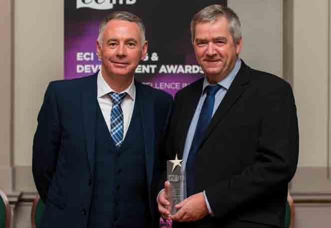 Left to right: Global Technical Competency Leader, Jason Barnard, and Manager Operations – North Sea, Steve Clark of Hydratight receiving the ECITB's 'Highly Commended Award'.