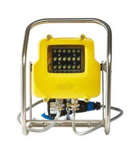 Dazzled by Floodlight Glare in a Pitch Black Tank? Wolf Safety Finds the Ideal Solution