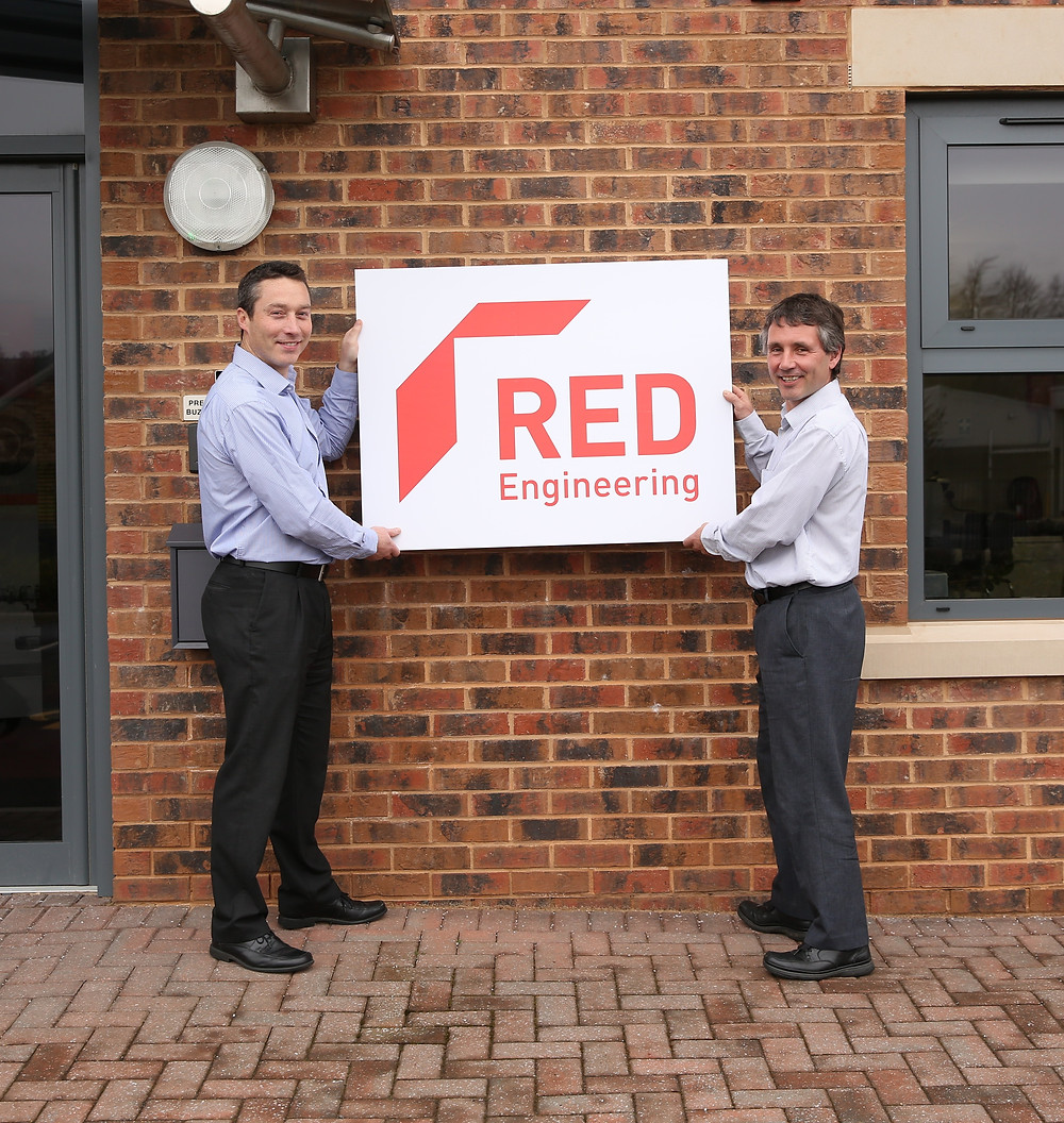 Directors Joe Orrell (left) and Richard Kent reveal Red Engineering's new look and name change