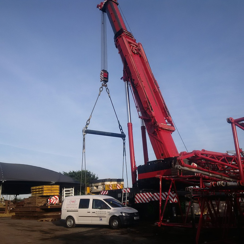 RSS proof tested a spreader beam to be used for final positioning of the vessel onsite.