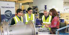 Visitors experienced a tour of Hydro Group's manufacturing facilities.