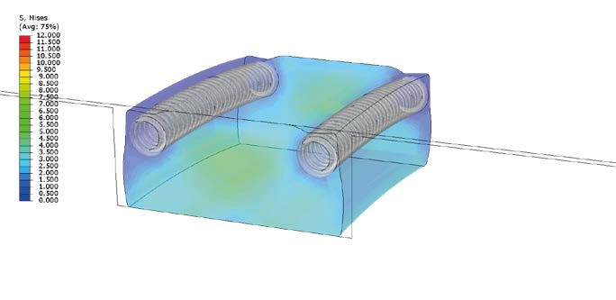 Finite Element Analysis of XploR™ S-Seal installed in hardware.