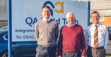 left to right David Pickles – Operations Director, Charles Tighe – Founder and MD, Richard Knowles – Technical Director
