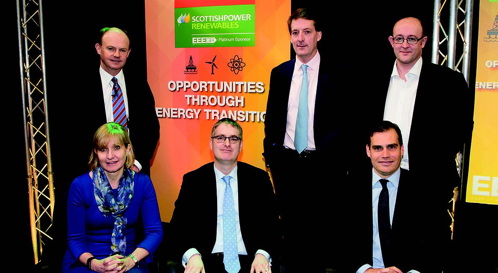 UK energy leaders will forecast the future of the Southern North Sea (SNS) at SNS2018 in Norwich on February 28 and March 1, including Deirdre Michie, CEO of Oil & Gas UK, pictured at SNS last year with other leaders.
