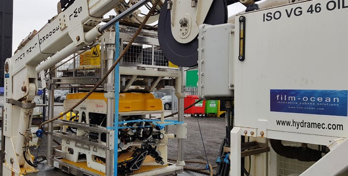 Film Ocean's Cougar ROV during recent project load out.