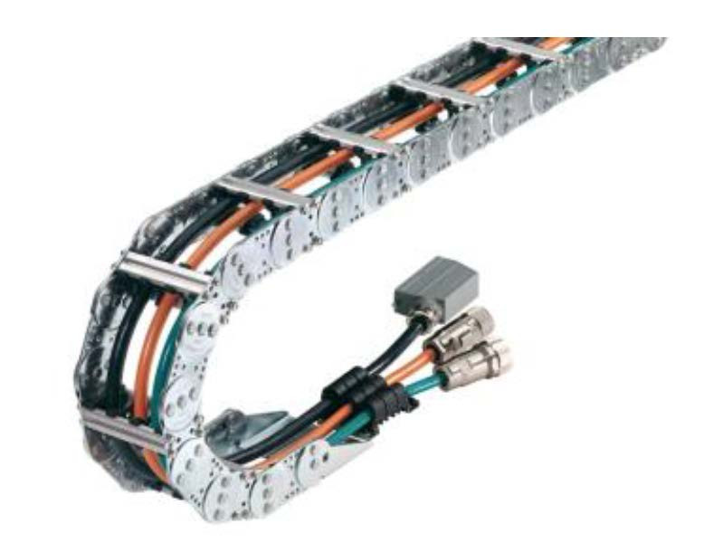The KABELSCHLEPP Metool steel cable carriers are designed for heavy mechanical loads and harsh production environments