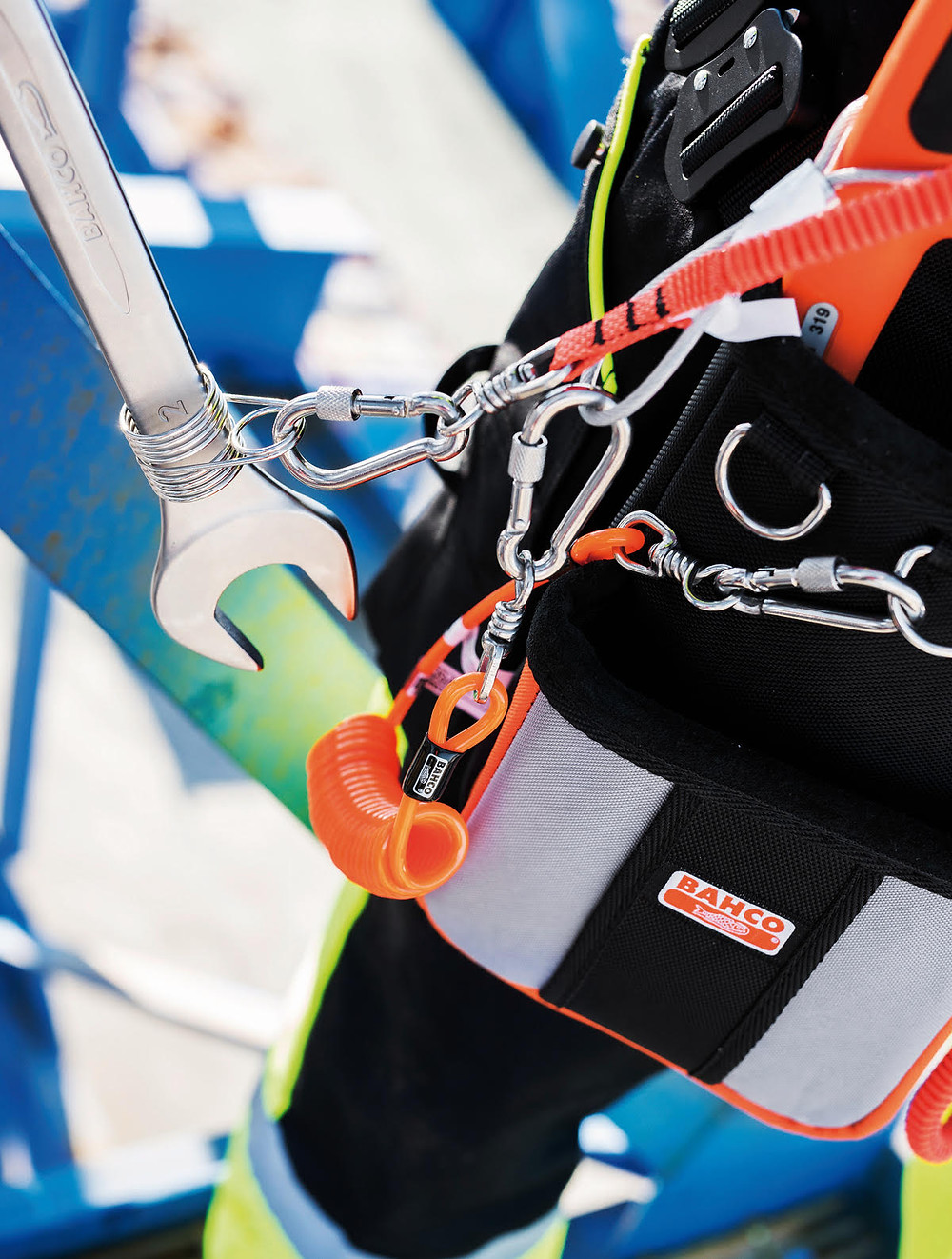 Bahco carabiners, tool fixings and lanyards guard against dropping tools from height
