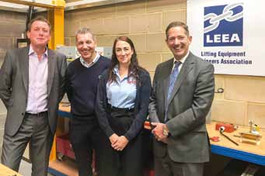 LEEA WELCOMES LOCAL MP TO CENTRE OF GLOBAL LIFTING INDUSTRY