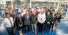 International delegates from Singapore, South Korea, India, the USA and Europe visited Hydro Group's global headquarters in Aberdeen.