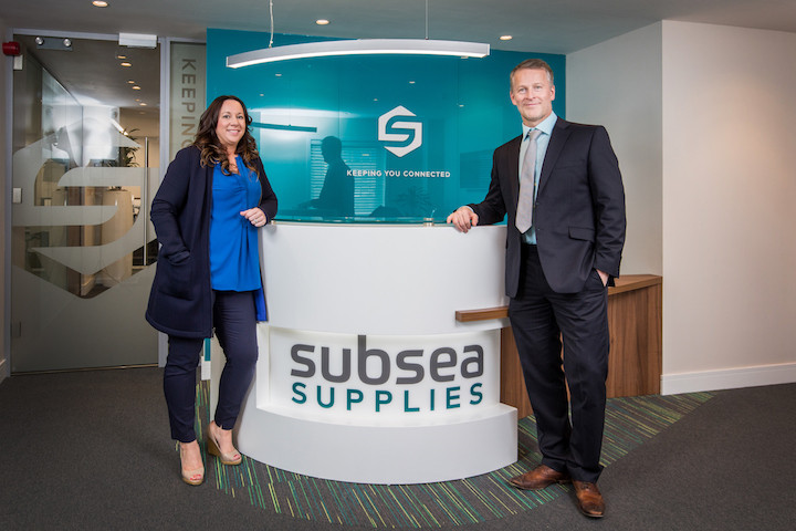 Pauline McCann, Sales Manager at Aberdeen-based Subsea Supplies, and Director Andy Smith