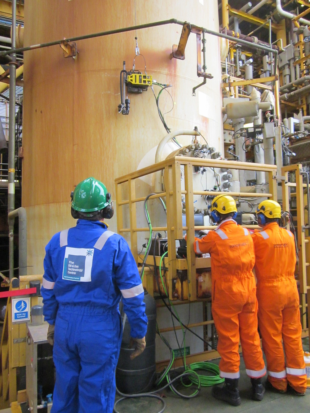 Field trials of non-intrusive inspection technology taking place on Total's Elgin platform.