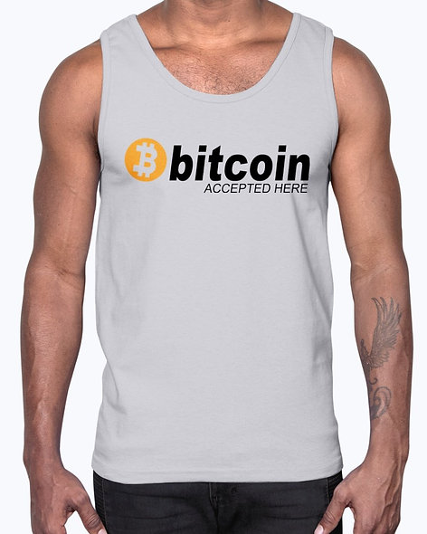 Bitcoin Accepted Here - Hobbies - Cotton Tank