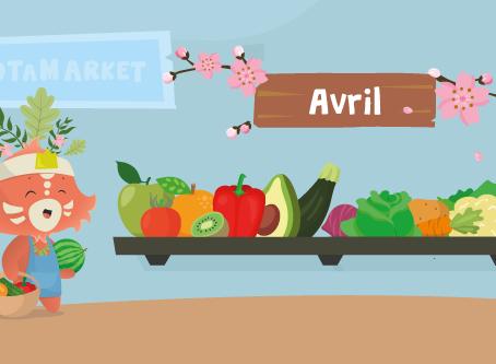 Le calendrier des fruits et légumes de saison : avril