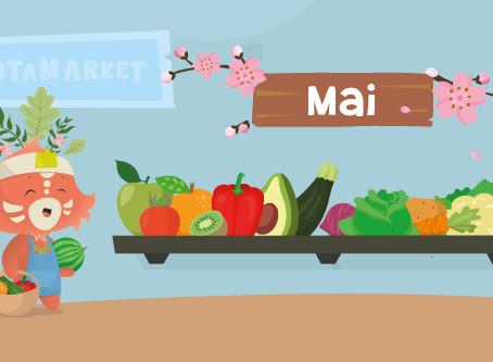Le calendrier des fruits et légumes de saison : mai
