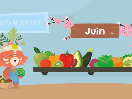 Le calendrier des fruits et légumes de saison : juin