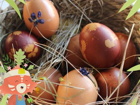 Atelier enfant : faire des œufs de Pâques originaux avec des matières naturelles