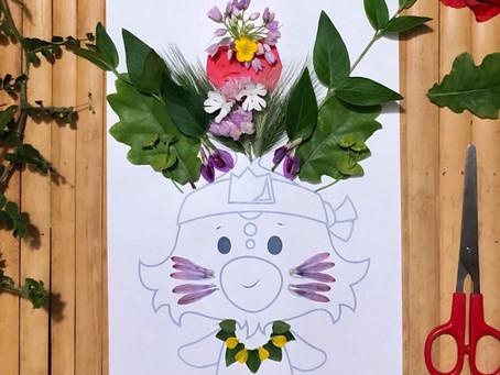 Activité enfant : réaliser un portrait végétal