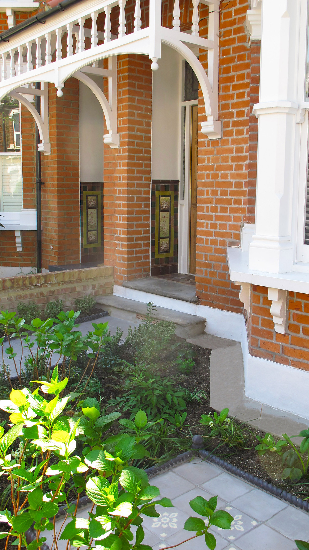 Victorian Front Garden with Moroccan Tiles