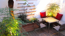 Two Outdoor Lighting Projects for Small Gardens