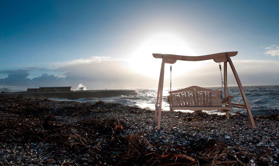swing, seat, garden, bench, rocking chair, seaside,