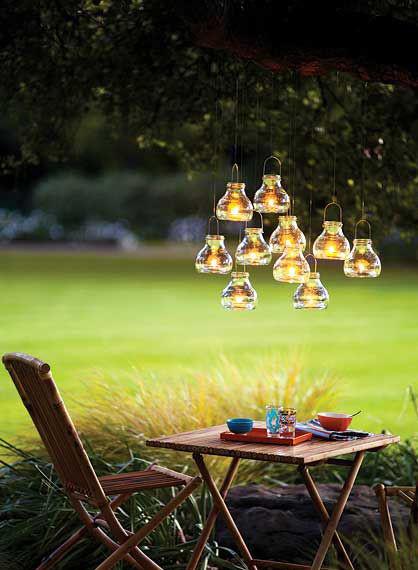 candles, romantic, lighting, outside, furniture, tea, light, lanterns,